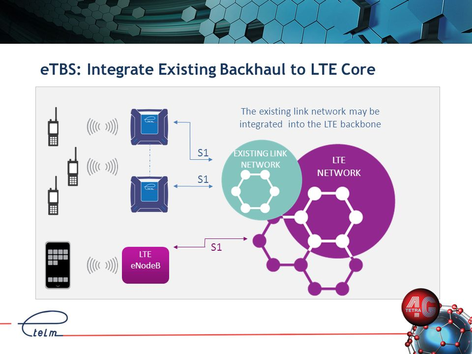 eTBS: Integrate Existing Backhaul to LTE Core