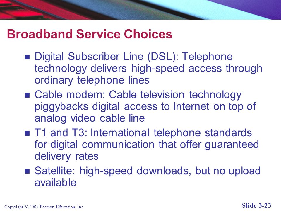 Broadband Service Choices