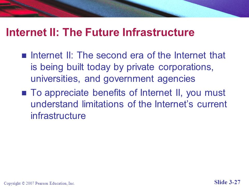 Internet II: The Future Infrastructure