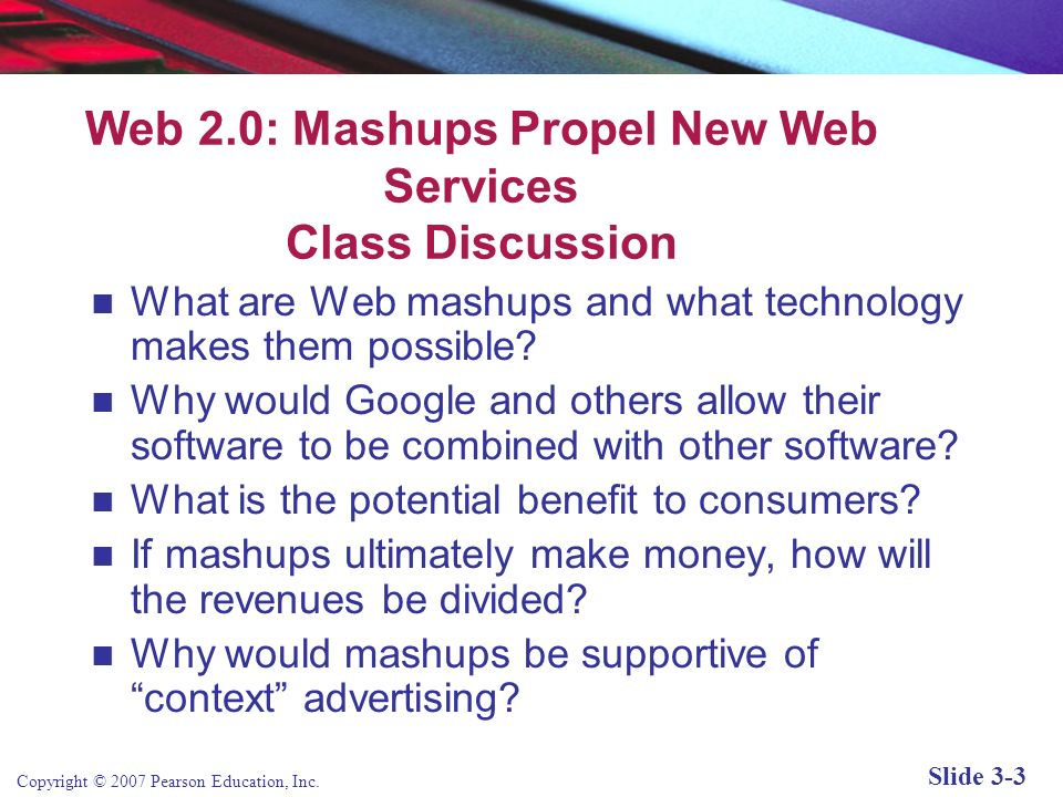 Web 2.0: Mashups Propel New Web Services Class Discussion