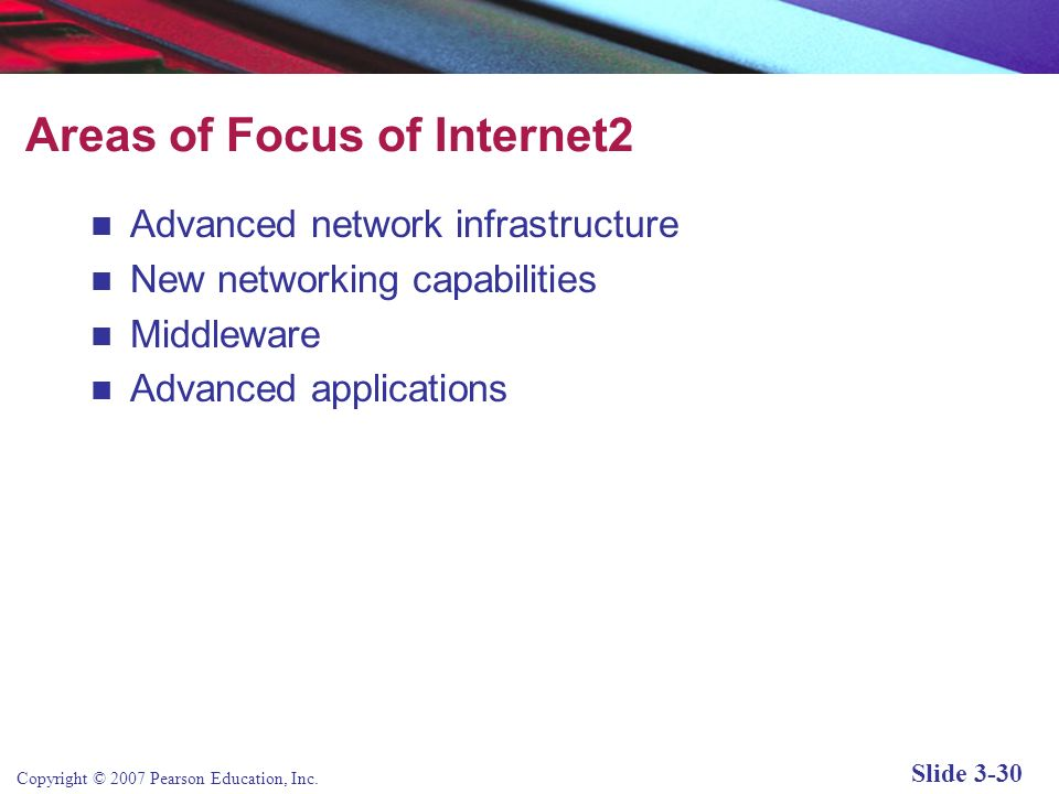 Areas of Focus of Internet2