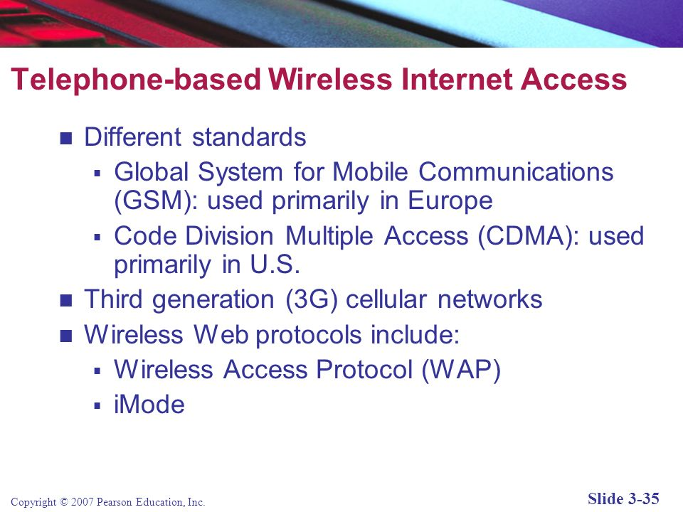 Telephone-based Wireless Internet Access