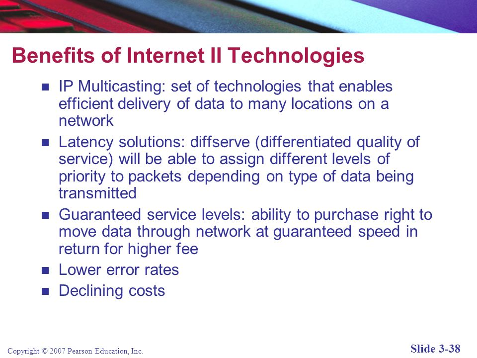 Benefits of Internet II Technologies