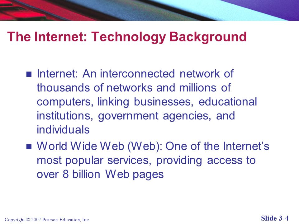 The Internet: Technology Background