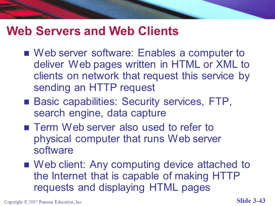 Web Servers and Web Clients