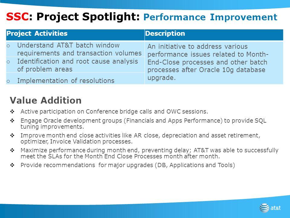 SSC: Project Spotlight: Performance Improvement
