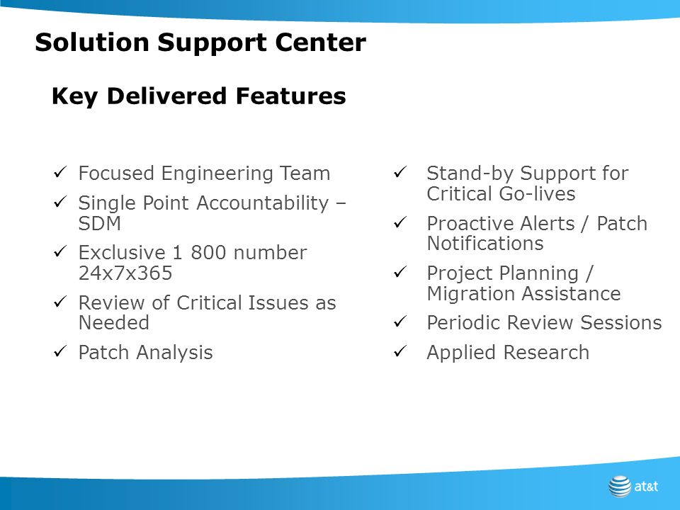 Solution Support Center