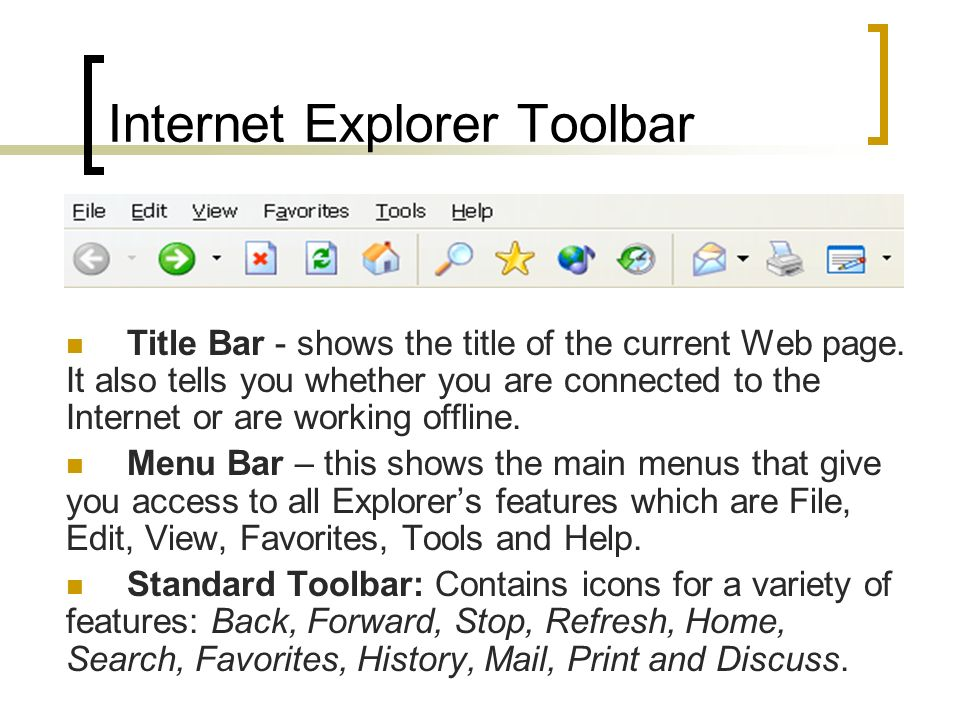 Internet Explorer Toolbar