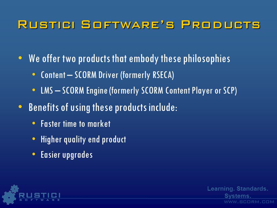 Rustici Software's Products