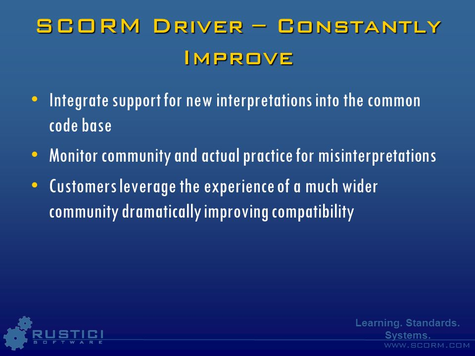 SCORM Driver – Constantly Improve