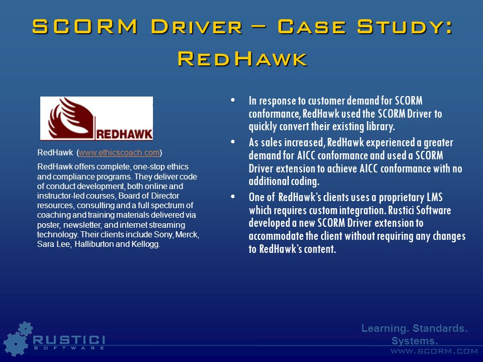 SCORM Driver – Case Study: RedHawk
