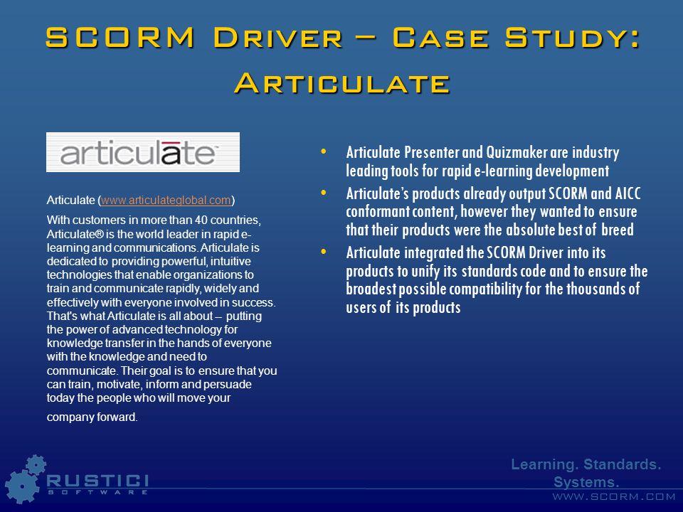 SCORM Driver – Case Study: Articulate