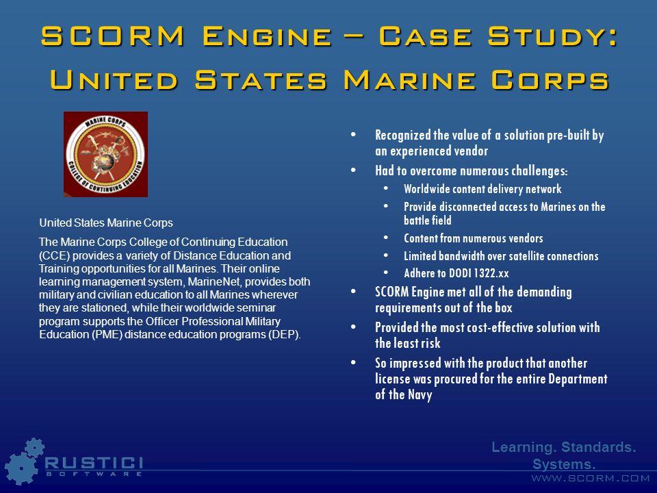 SCORM Engine – Case Study: United States Marine Corps