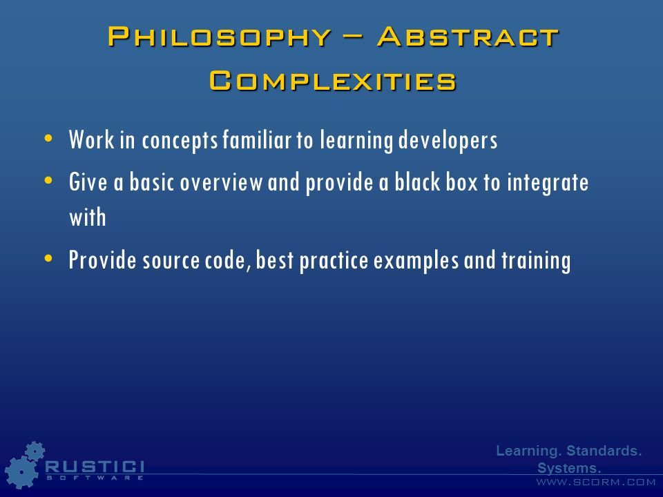 Philosophy – Abstract Complexities