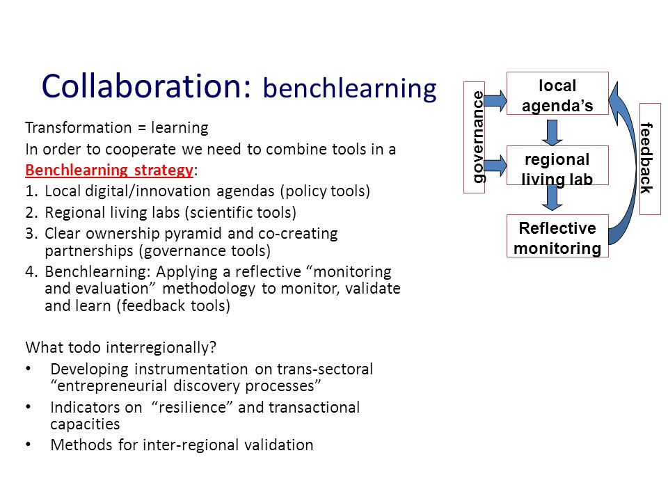 Collaboration: benchlearning
