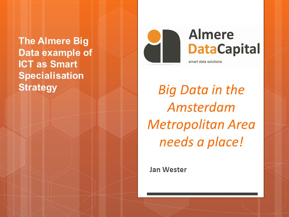 Big Data in the Amsterdam Metropolitan Area needs a place!