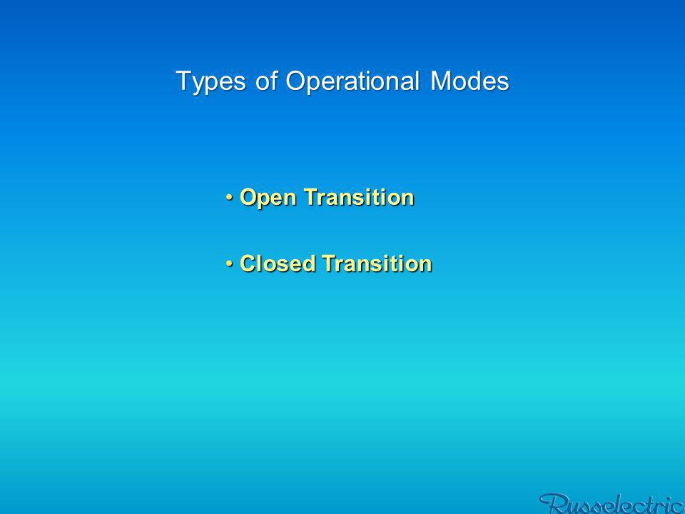 Types of Operational Modes