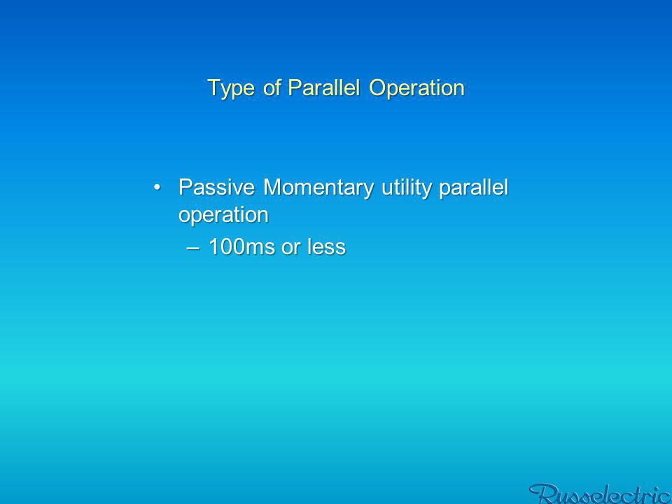 Type of Parallel Operation