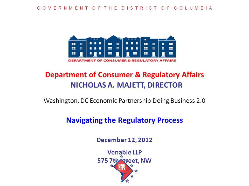 Department of Consumer & Regulatory Affairs