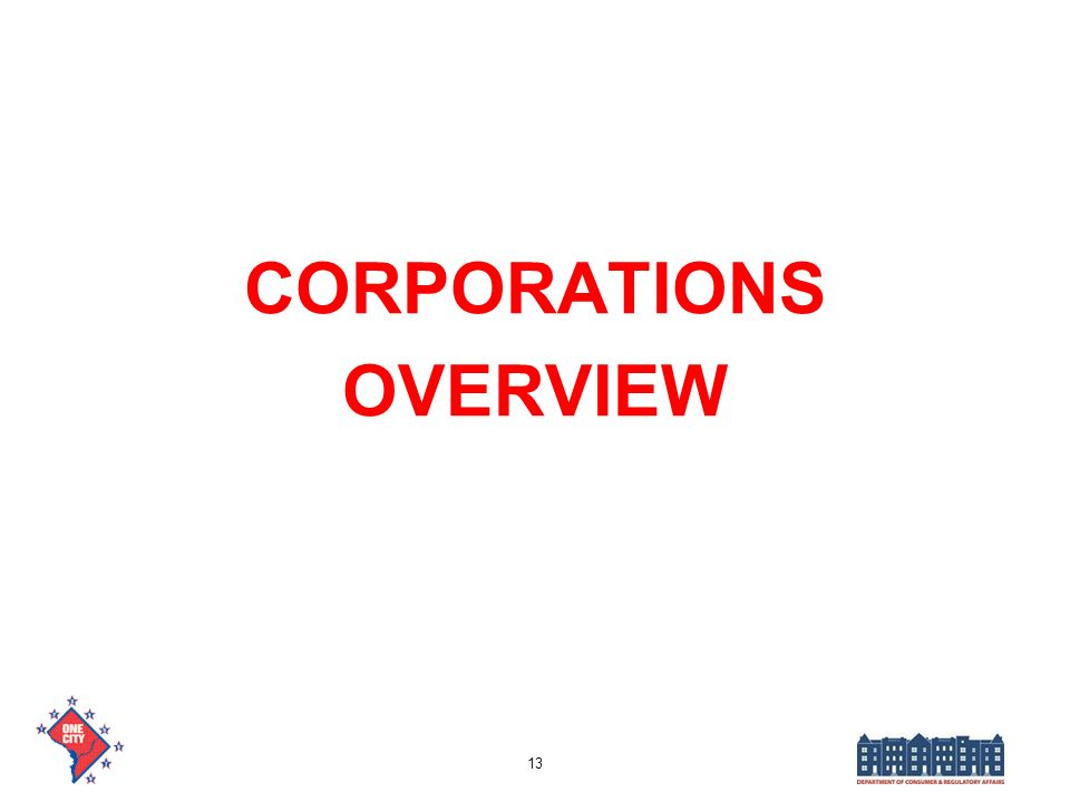 CORPORATIONS OVERVIEW