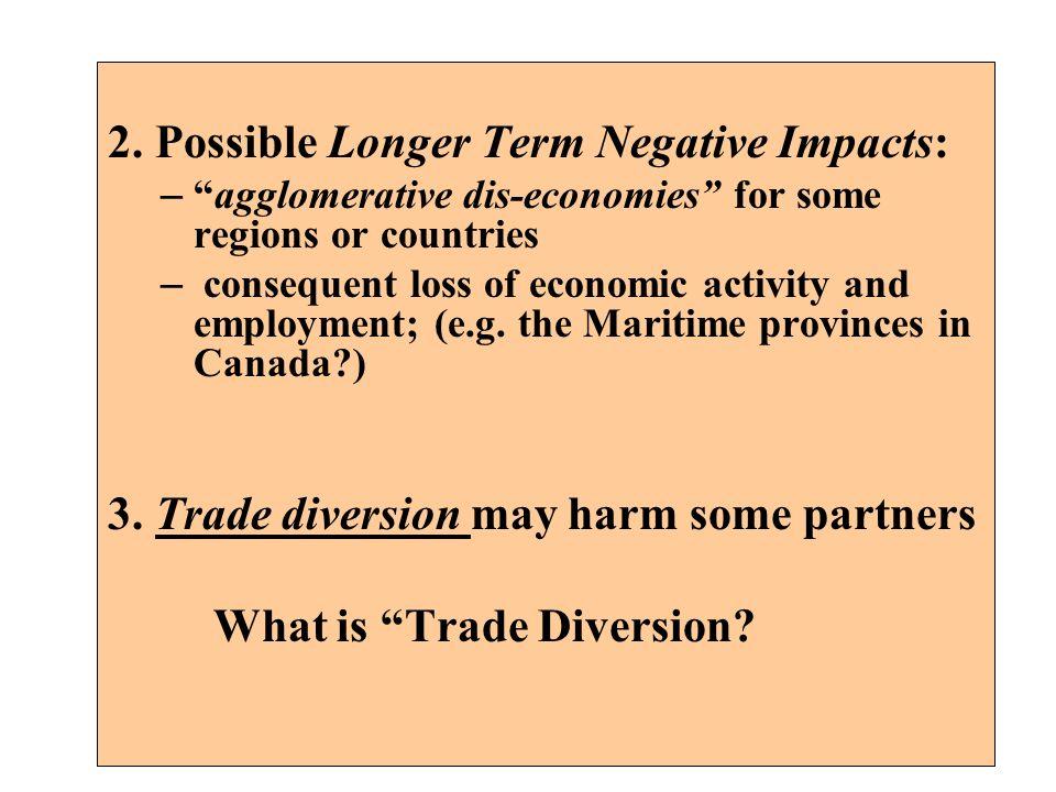 2. Possible Longer Term Negative Impacts: