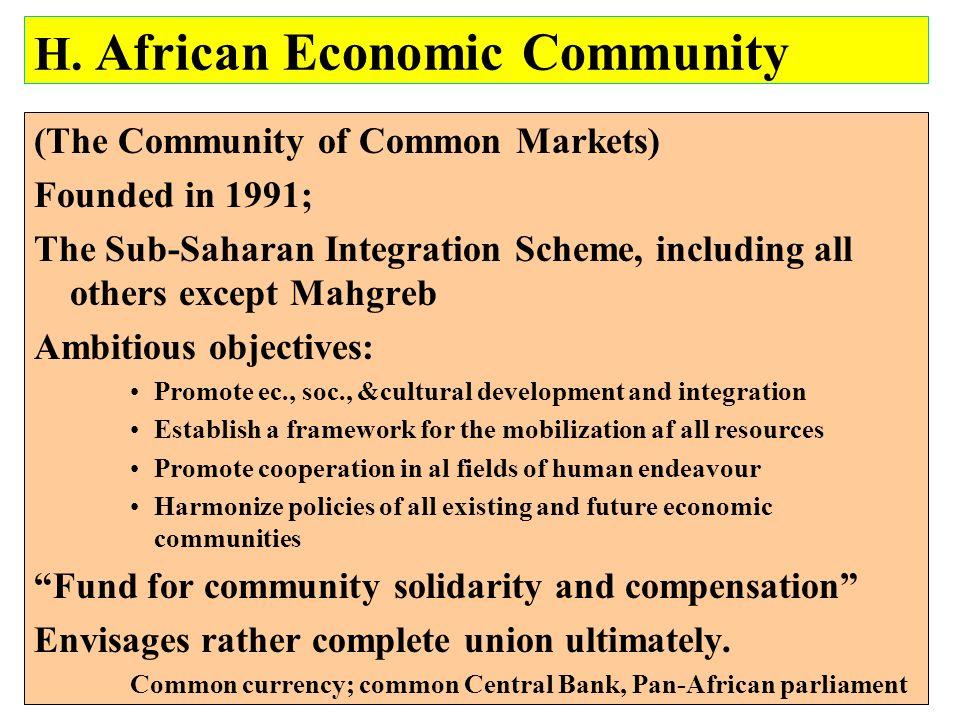 H. African Economic Community