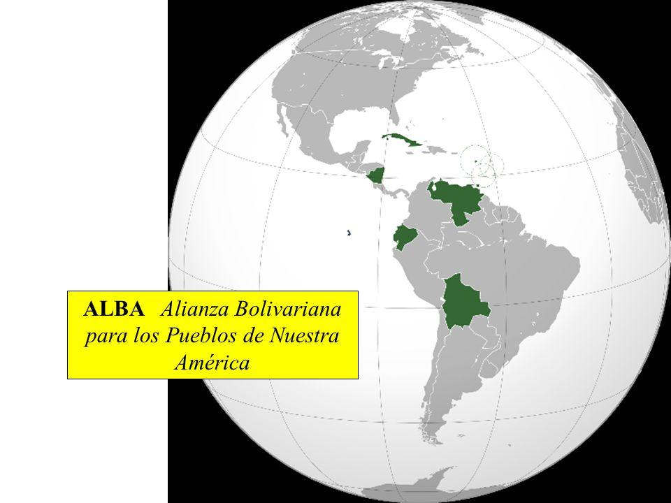 ALBA Alianza Bolivariana para los Pueblos de Nuestra América