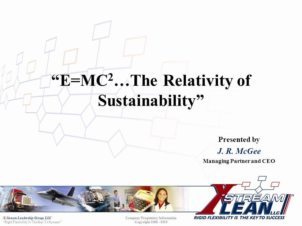E=MC2…The Relativity of Sustainability