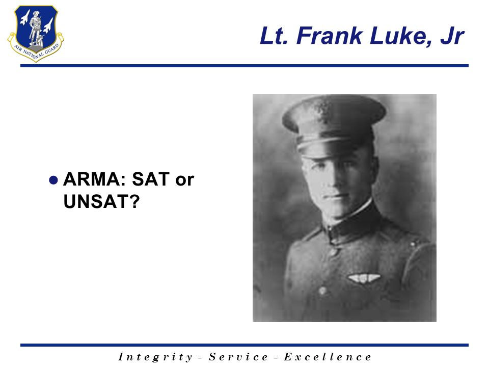 Lt. Frank Luke, Jr ARMA: SAT or UNSAT