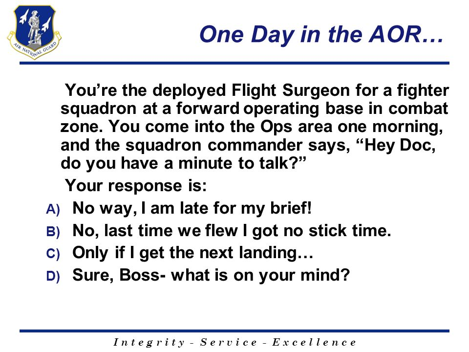 One Day in the AOR…