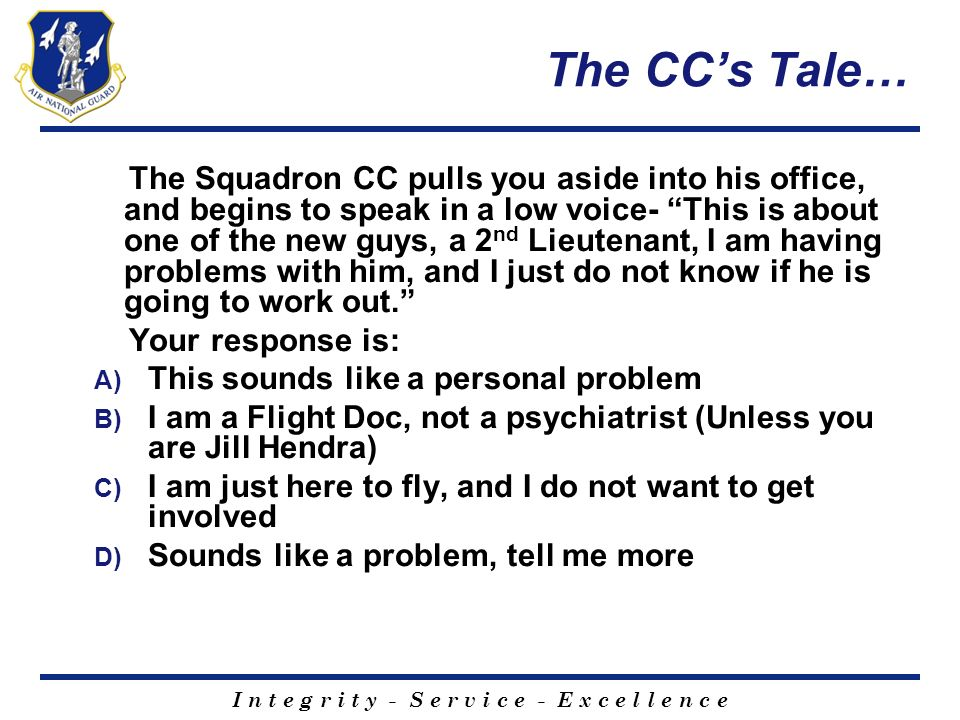 The CC's Tale…