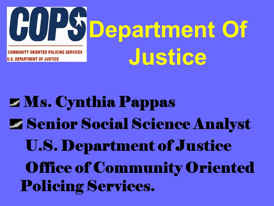 Department Of Justice Senior Social Science Analyst