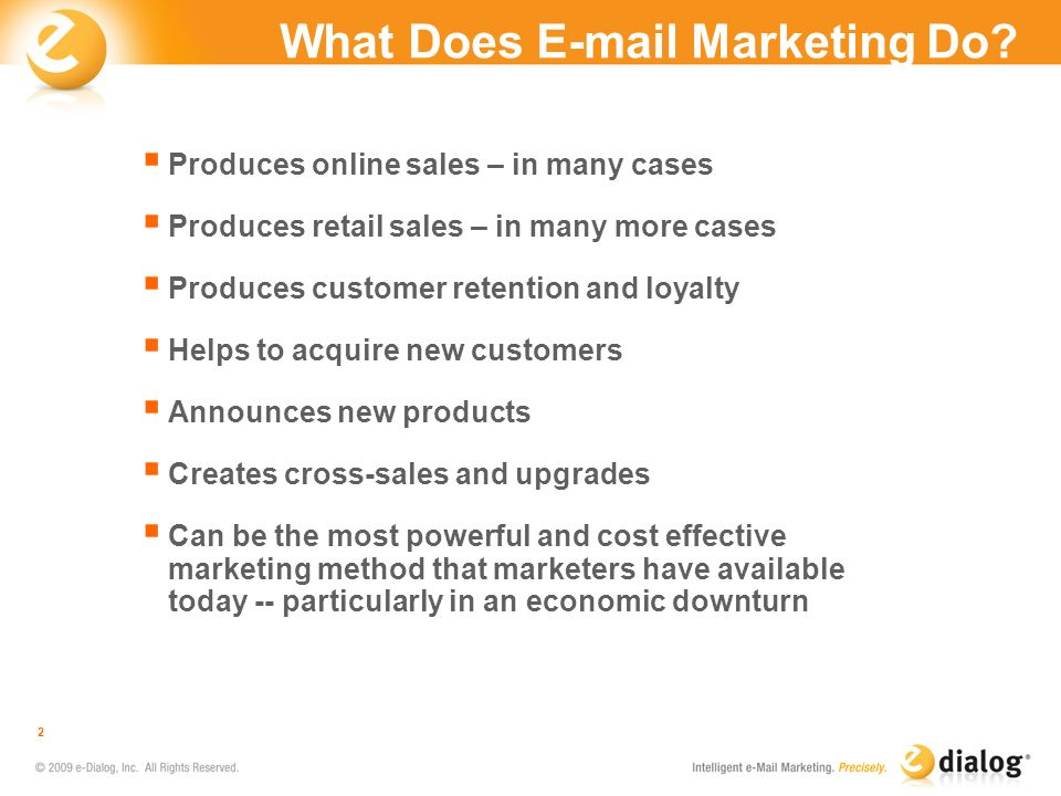 What Does E-mail Marketing Do
