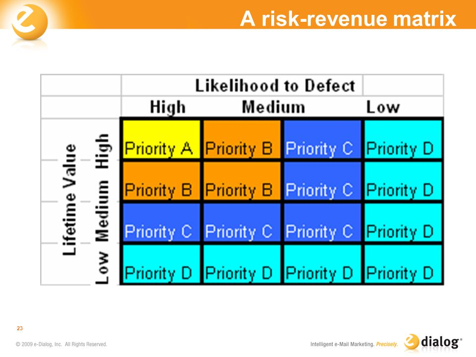 A risk-revenue matrix
