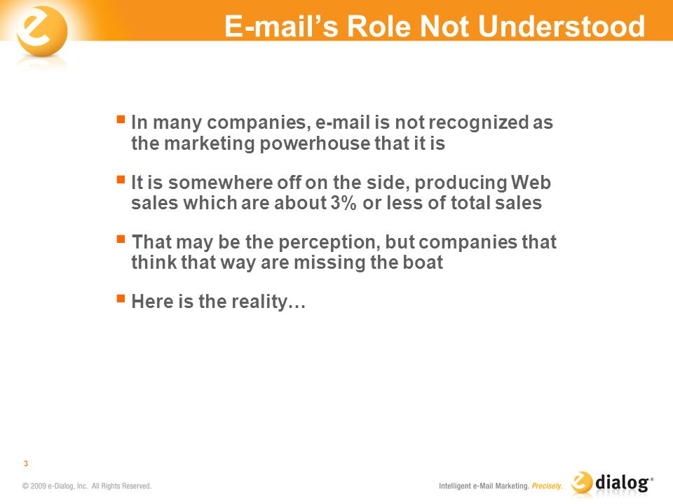 E-mail's Role Not Understood