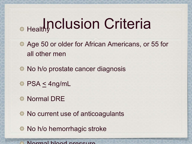 Inclusion Criteria Healthy