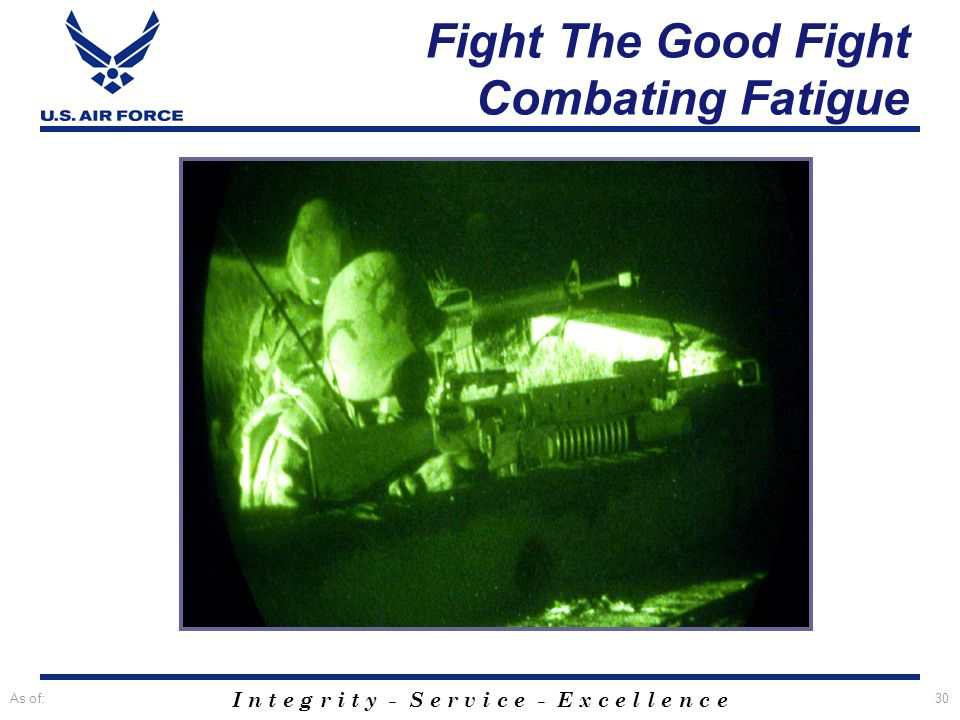 Fight The Good Fight Combating Fatigue
