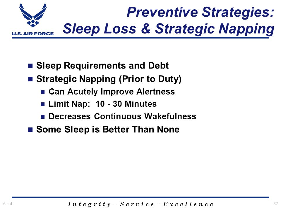 Preventive Strategies: Sleep Loss & Strategic Napping