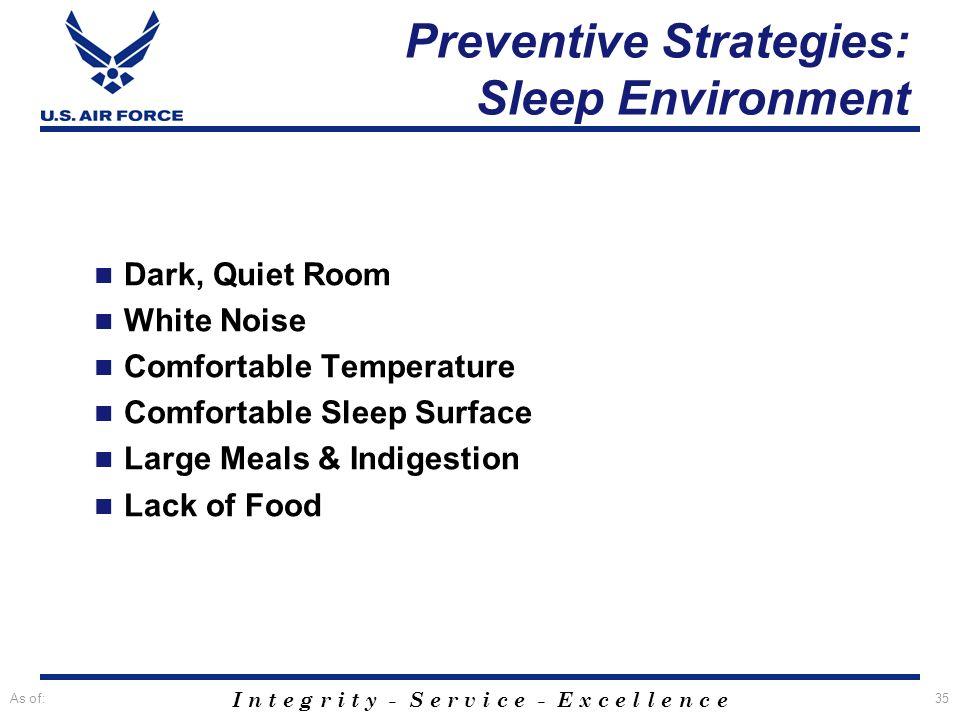 Preventive Strategies: Sleep Environment