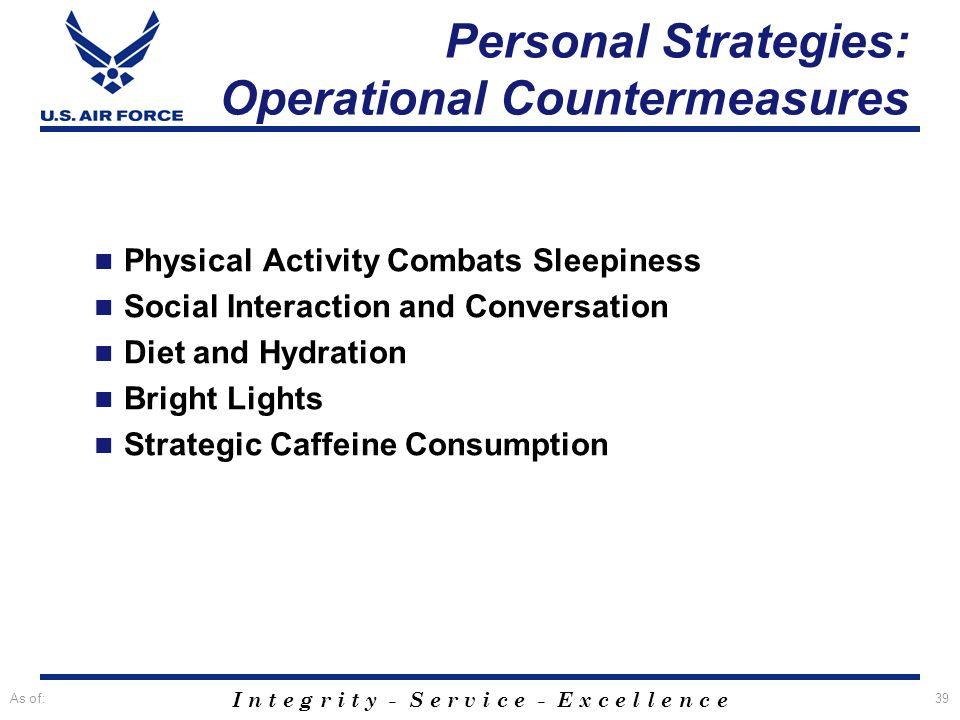 Personal Strategies: Operational Countermeasures