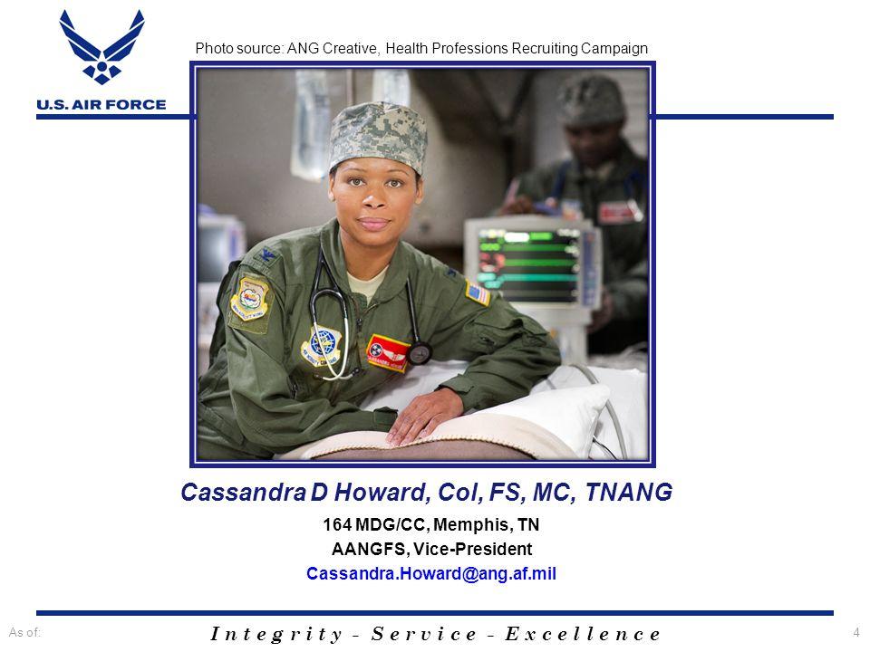 Cassandra D Howard, Col, FS, MC, TNANG