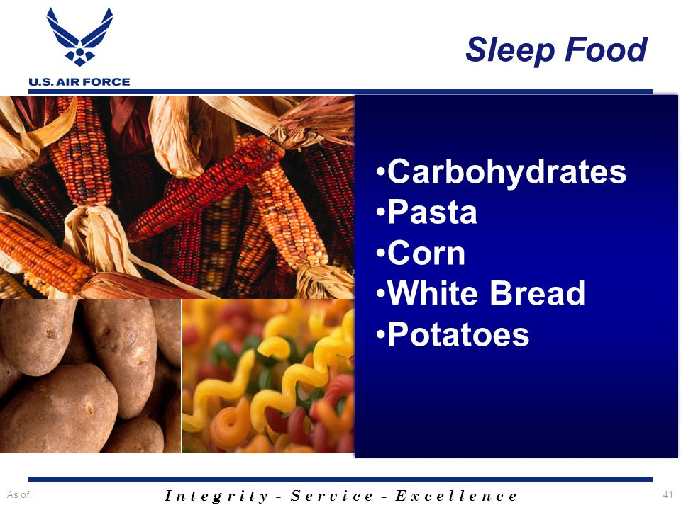Sleep Food Carbohydrates Pasta Corn White Bread Potatoes