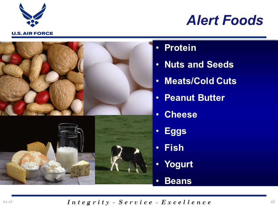 Alert Foods Protein Nuts and Seeds Meats/Cold Cuts Peanut Butter