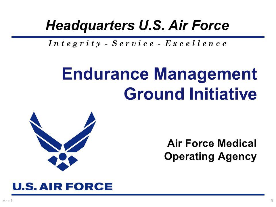 Endurance Management Ground Initiative