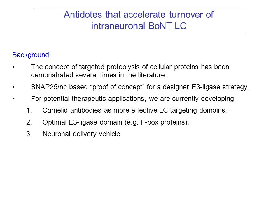 Antidotes that accelerate turnover of intraneuronal BoNT LC
