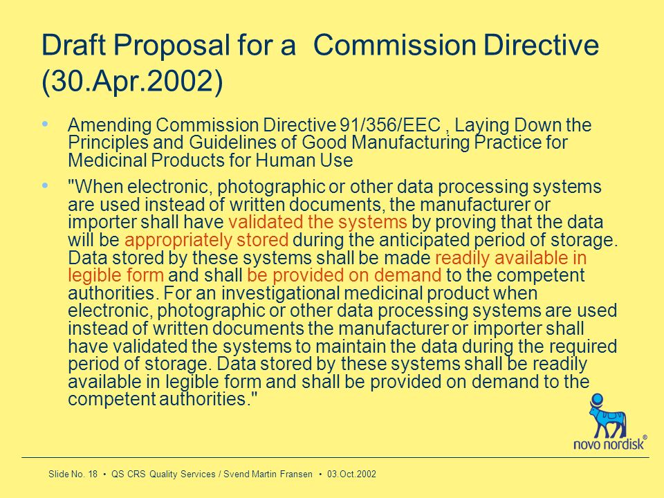 Draft Proposal for a Commission Directive (30.Apr.2002)