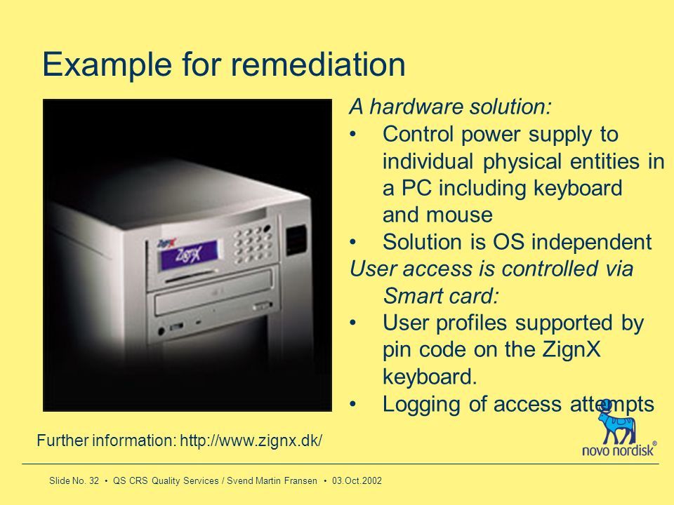 Example for remediation