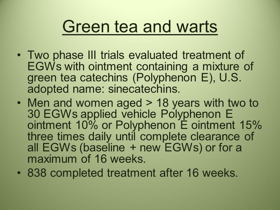 Green tea and warts