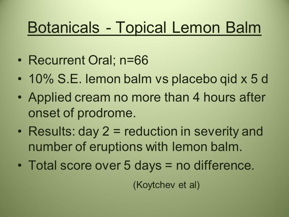 Botanicals - Topical Lemon Balm