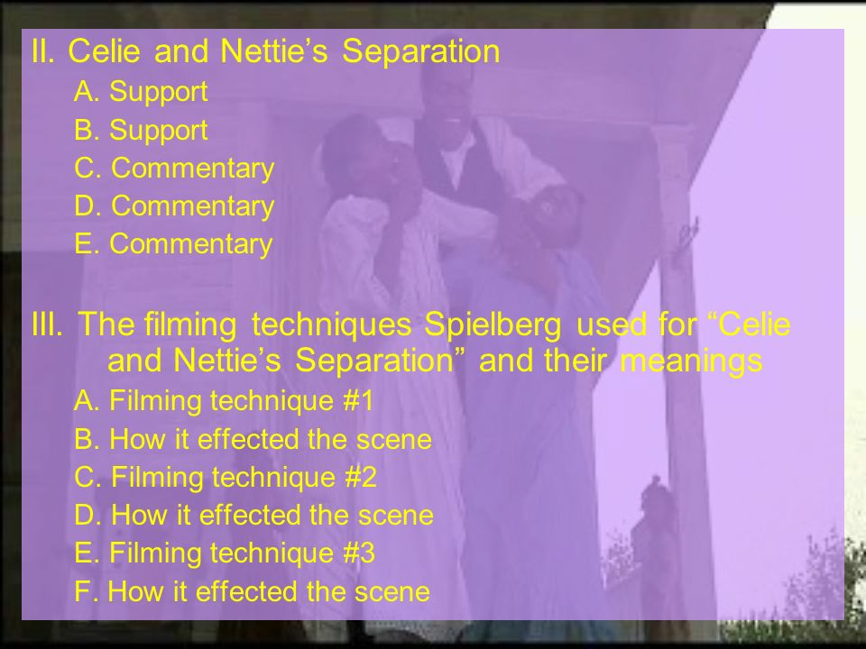II. Celie and Nettie's Separation